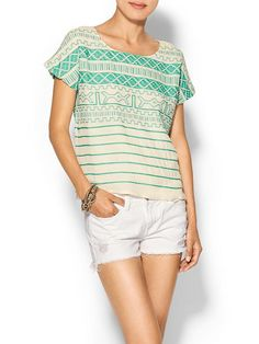 Thml Clothing Turquoise Embroidered Top