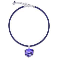 Coeur de Lion Halskette #violett #lila #mesh #glas #swarovski #schmuck #außergewöhnlich #geschenk #present #set #damen #kette Messing, Beaded Necklace, Jewelry, Lilac, Swarovski Jewelry, Crystals, Neck Chain, Watches, Handmade