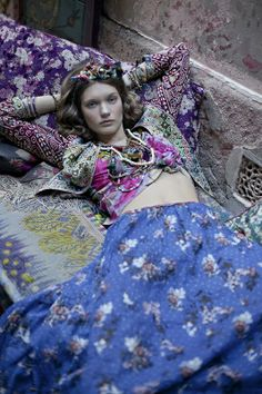 mixing patterns / boho chic / the brand gals / bright colored fabric / bohemian / look book / editorial / fashion photography / maxi skirt