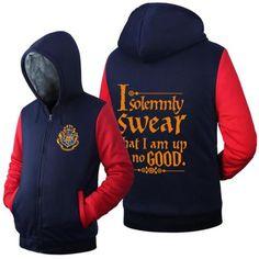 Harry Potter Hogwarts House Color Warm Lined Hoodie Jacket -  - My Revolutional Shop - 1