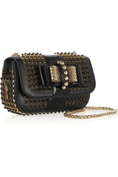 Christian Louboutin|Sweety Charity mini studded leather shoulder bag|NET-A-PORTER.COM