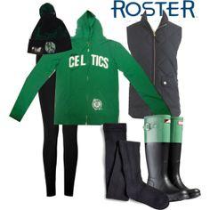 Stay warm this winter in this ROSTER Celtics Sweatshirt!   Celtics Women Pep Rally FZ Hood Kelly $80.00 Sku# 205049 373 4