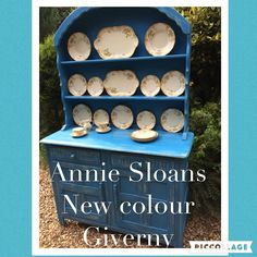 Dutch dresser painted in Versailles and Giverny chalk paint tm by Annie Sloan