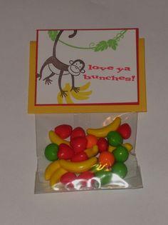 Fruity Monkey Valentine Treats