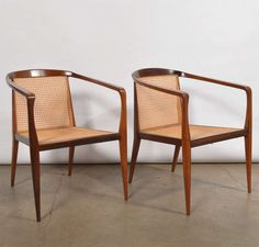 John Graz - Pair of Chairs | From a unique collection of antique and modern armchairs at https://www.1stdibs.com/furniture/seating/armchairs/