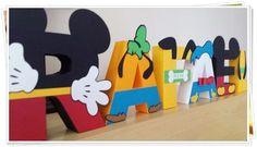 Letras 3d - Casa do Mickey
