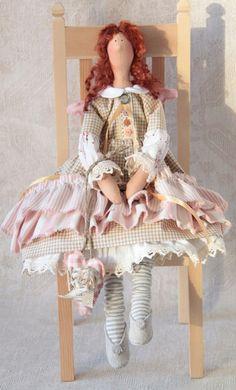 Tilda+Puppe++Dekoration+Landhausstil+von+Stoffdekor+auf+DaWanda.com