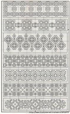 Black work for Humbugs Motifs Blackwork, Blackwork Cross Stitch, Cross Stitch Borders, Cross Stitch Designs, Cross Stitching, Cross Stitch Patterns, Kasuti Embroidery, Cross Stitch Embroidery, Embroidery Patterns