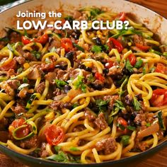 Burrito zoodles are low-carb, high flavor. Get the recipe at .Burrito zoodles are low-carb, high flavor. Get the recipe at . Zoodle Recipes, Spiralizer Recipes, Pasta Recipes, Beef Recipes, Mexican Food Recipes, Low Carb Recipes, Dinner Recipes, Cooking Recipes, Healthy Recipes