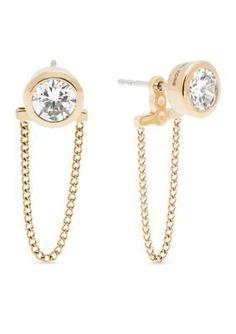 Michael Kors  Gold-Tone Chain Drape Stud Earrings