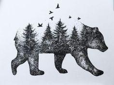 Bear & trees