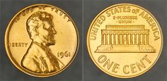 3 -- 1961 Lincoln 1c – Choice Gem Proof Red: Nice, original proof Lincoln Cent, with slightly hazy surfaces. Perfect for the beginning collector of US proof coins and/or Lincoln Cents.