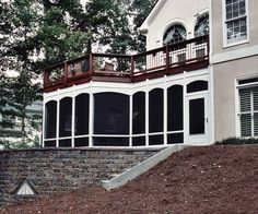 Screened Porch Under Deck | Pictures of screen porch from Atlanta Decking and Fence Company.