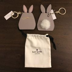 Shop Women's kate spade size OS Accessories at a discounted price at Poshmark. Description: How cute is this little bunny?? I just had to get it!! Picture depicts two bunnies to illustrate the front and back (and the second picture is a closeup of the front) but price is for one key fob only. Great gift for Valentine's Day or any day!! Will even include the pouch as pictured (pouches are usually not provided for key fobs). Smoke-free/pet-free.. Sold by gossipgirl212. Fast delivery, f...