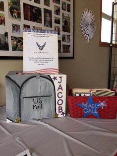 Military Send Off Party Ideas, Military Party, Army Party, Navy Party Themes, Deployment Party, Leaving Party, Goodbye Party, Graduation Party Planning, Mail Call