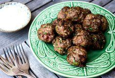 Best Mediterranean Turkey Meatballs With Herbed Yogurt Sauce Recipe on ...