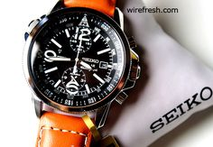Seiko SSC081 solar chronograph watch cuts the WW2 fighter pilot look