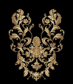 Grab Shutterstock Photo Without Watermark Embroidery Neck Designs, Bead Embroidery Patterns, Hand Work Embroidery, Baroque Pattern, Pattern Art, Textile Prints, Textile Design, Baroque Decor, Motif Vintage