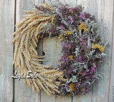 Купить венок на дверь сон про весну к Пасхе - сиреневый, венок, венок на дверь