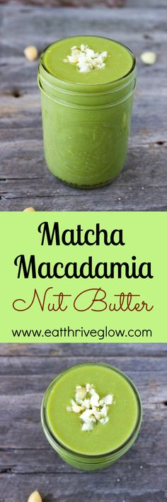 Make matcha macadamia nut butter! Organic matcha is a Japanese green tea that is loaded with antioxidants. Macadamia Nut Butter, Green Tea Recipes, Organic Matcha, Superfood Recipes, Smoothie Recipes, Healthy Breakfast Smoothies, Eat Breakfast, Butter Recipe, Food Processor Recipes