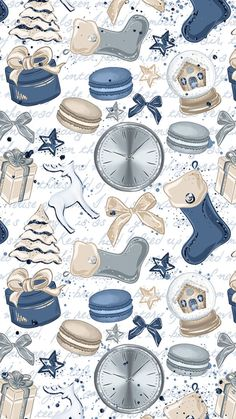 iphone wallpaper blue Papel de carta natal diverso azul e bege. Blue Wallpaper Iphone, Cellphone Wallpaper, Cool Wallpaper, Pattern Wallpaper, Wallpaper Backgrounds, Emoji Wallpaper, Iphone Backgrounds, Wallpaper Ideas, Wallpaper Natal