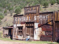 American Land Art Tour, September 2012. Old General Store in Mogollona, Arizona, U.S. a Gold Mining Ghost Town.