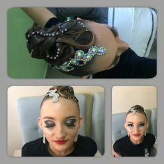 Ballroom hair, make up, hairstyle