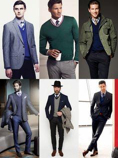 Men's Smart V-Neck Jumper Styling - Outfit Inspiration Lookbook