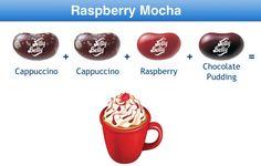 Raspberry Mocha Jelly Belly Flavor Recipe Jelly Belly Flavors, Jelly Belly Beans, Jelly Beans, Bean Recipes, Candy Recipes, Yummy Recipes, Best Candy, Favorite Candy, Food Plus