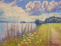 Lake Øyeren, Årnestangen Oil on linen, 60 x 80 cm SOLD Shops, Monet, Impressionist, Oil, Artwork, Painting, Inspiration, Biblical Inspiration, Tents