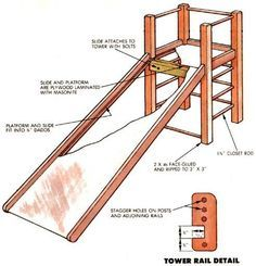 building an indoor play structure - detailed DIY instructions Kids Indoor Playhouse, Indoor Playroom, Kids Indoor Playground, Build A Playhouse, Kid Playroom, Playroom Design, Playroom Slide, Children Playground, Diy Slides