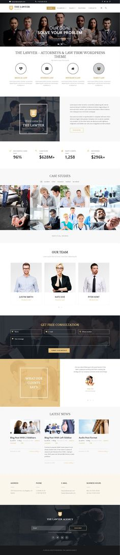 The Lawyer is an easy-to-use responsive WordPress theme especially for…