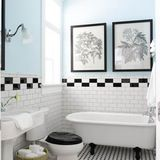 Black and white tile — it's so classic and timeless. And it's so simple, but sometimes it can be tricky to get simple right. There are so many options for using black and white tile, beyond the checkered tile that we all know and love. Here are 12 examples of beautiful and unique spaces where black and white tiles were done right.