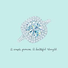 Tiffany Soleste® engagement ring in platinum with diamonds. #TiffanyPinterest