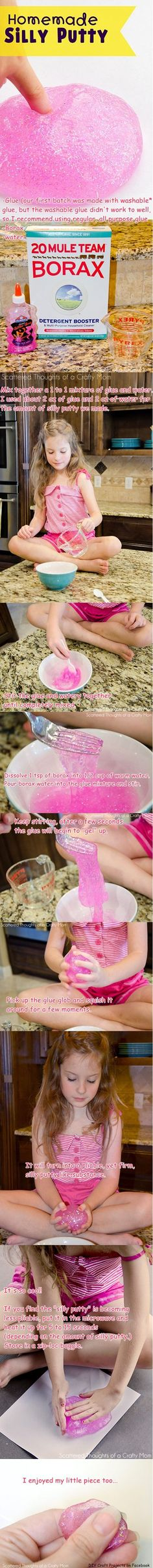 The girls will LOVE this!  Especially the pink glitter glue!  Totally doing this for family night :)
