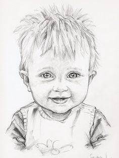 Drawings by UK Pencil Portrait artist Sally Holland. Cool Art Drawings, Pencil Art Drawings, Realistic Drawings, Art Drawings Sketches, Pencil Sketch Portrait, Portrait Sketches, Portrait Art, Baby Face Drawing, Drawing Drawing