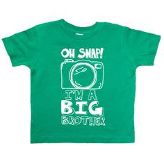Hey, I found this really awesome Etsy listing at https://www.etsy.com/listing/173480720/big-brother-boys-camera-shirt-oh-snap-im