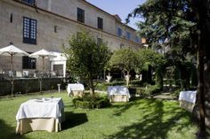 #parador de #Pontevedra ideal para #bodas #medievales #palacios #encanto jardín perfecto para el #coctel