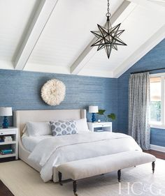For British ex-pat clients who wanted a year-round beach house, designer Bella Zakarian Mancini responded with bold, lively interiors that would keep their appeal at any time of the year.