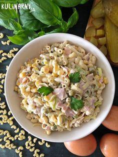 Sałatka makaronowa z szynką i serem Salad Recipes, Cake Recipes, Healthy Recipes, Instant Pot Dinner Recipes, Pasta Salad, Salads, Food And Drink, Lunch, Food Cakes