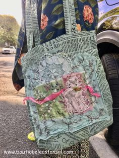 Tote Bag Original, Bambi, Sewing Case, Messenger Bag, Satchel, Quilts, Blanket, Boutique, French Knot Stitch