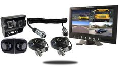 Premium RV Backup Camera System with 4 RV Cameras and Quick Disconnect
