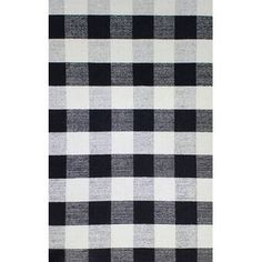 August Grove Pickering Hand Woven Wool Black/Ivory Area Rug Rug Size: Rectangle x White Area Rug, Beige Area Rugs, Grey Rugs, Black White Rug, Black Cream, Dark Grey, Dynamic Rugs, Dash And Albert, Indoor Outdoor Area Rugs