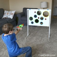 Super Fun Nerf Games to Make // DIY projects for boys // unplugged activities