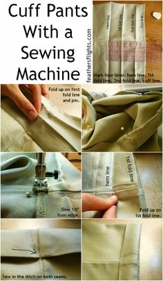 Feather's Flights {a creative, sewing blog}: Sewing 101 - Cuffing Pants With a Sewing Machine