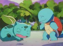 Ash's Squirtle - Bulbapedia, the community-driven Pokémon encyclopedia Green Pokemon, Pokemon Mew, Pikachu, Cute Laptop Wallpaper, Satoshi Tajiri, Pokemon Starters, Bulbasaur, Charizard, Aesthetic Anime