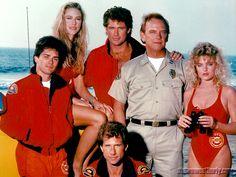 bay watch | Baywatch Season 1 cast - left to right: Billy Warlock (Eddie Kramer ...