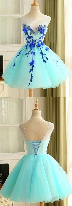 2017 Homecoming Dress Beautiful Hand-Made Flower Short Prom Dress Party Dress JK225