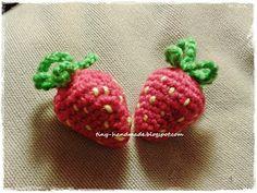 Szydełkowe truskawki wraz z cytrynkami Crochet Things, Strawberry, Fruit, Handmade, Diy, Hand Made, Bricolage, Strawberry Fruit, Do It Yourself