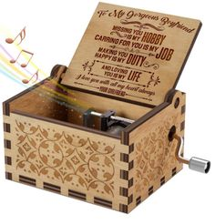 To My Gorgeous Boyfriend, Loving You Is My Life Music Box DK527c – Forever Love Gifts